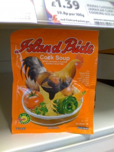 Island Pride brand Cock Soup (aka Chicken Soup)