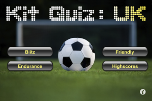 Kit Quiz: UK menu screen