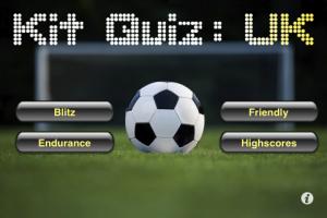 Kit Quiz: UK menu screen